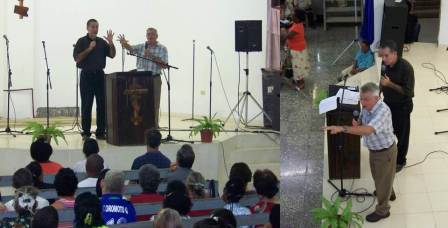 My dad, experiencing the fulfillment of a lifelong dream, preaching up a storm in Cuba, October 2012